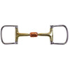 Derby Brass Mouth Dee Horse Bit With Copper Roller 5""