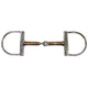 Derby Copper Roller Dee Snaffle Ring Bit 5""