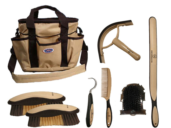 Groom & Clean 8 Items Horse Grooming Kit by Derby Originals