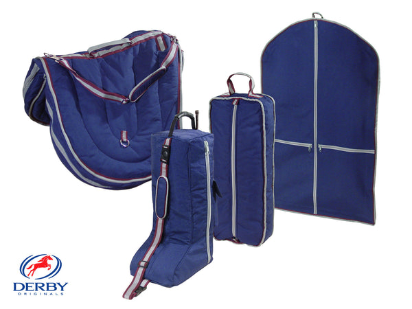 Derby English Saddle Bridle Boots Garment Carry Bags Set 4 Items