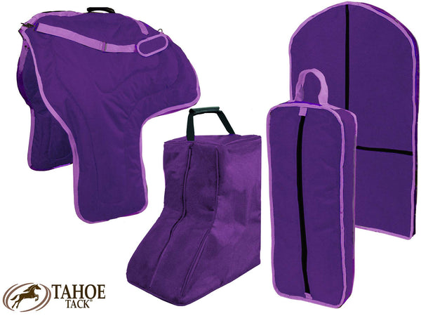 Tahoe Western Saddle, Boot, Bridle and Garment Carry Bag Set