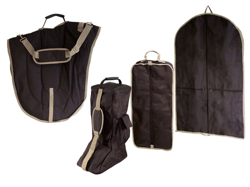 Dressage Saddle, Bridle, Boot and Garment Carry Bag Set of 4