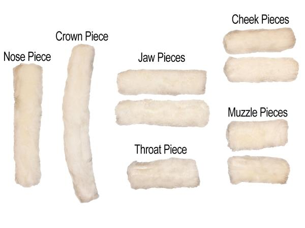 Derby Originals 9 Piece Genuine Australian Sheepskin Halter Cover Set