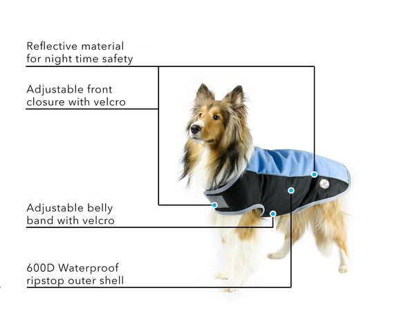 Comfort Fit Reflective 600D Winter Dog Coat with 1 Year Limited Manufacturer Warranty*