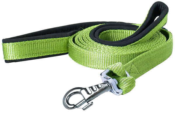 Padded Double Handle Dog Leash w Warranted Snap Design 3/4