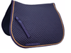 Derby Originals Traditional Dressage Saddle Pad Diamond Quilted with Gold Rope Lining
