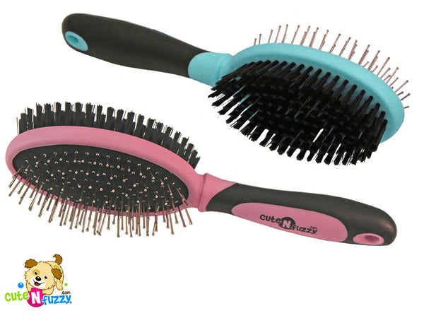 Double Sided Pet Grooming Brush by cuteNfuzzy®