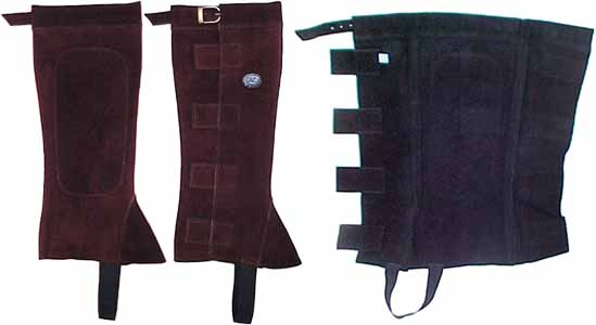 Suede Half Chaps with Velcro Closures Super Sale