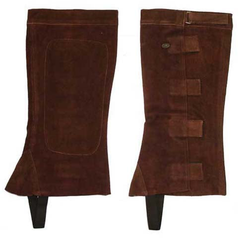 Suede Leather Half Chaps Velcro Closure Derby Originals