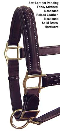 American Elite Fancy Stitch Padded Adjustable Halters