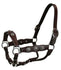 Tahoe Antique Cross Concho Show Halters with Lead - USA Leather