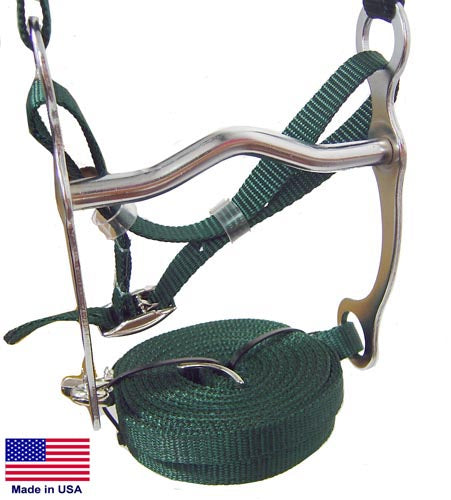 Nylon Halter Bridle Combo with Reins Made in USA Closeout Sale