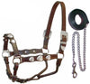 Tahoe Silver Heart Show Halters with Lead