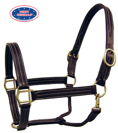 Derby Originals English Opulence Series - Brighton - Triple Stitch Leather Halter