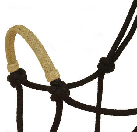 Tahoe Tack Nylon Rope Halter with Rawhide Braided Noseband