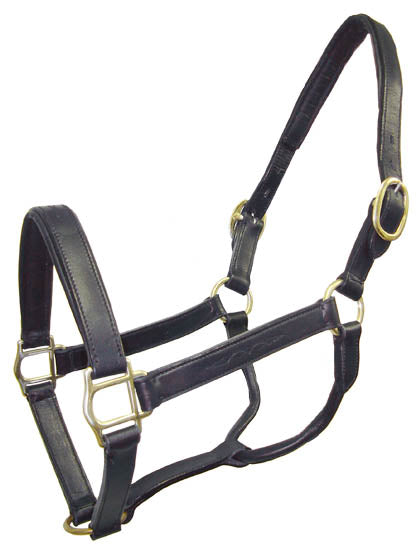 Derby Originals English Opulence Series - Oxford - Fancy Stitch Padded Leather Halter