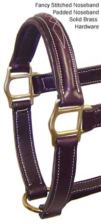 American Elite Fancy Stitch Padded Turnout Halters