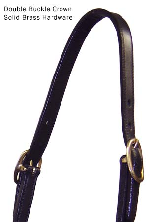 Paris Tack Rolled Leather Halters Black USA leather