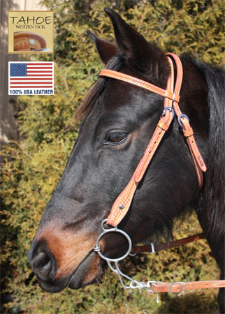 Tahoe Basket Weave Browband Headstall 3/4