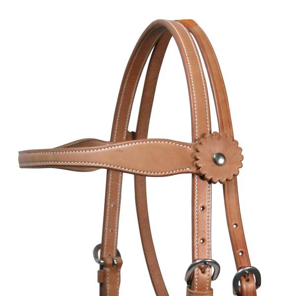 Tahoe Tack Country Double Layer Western Browband Headstall