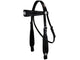 Tahoe Tack USA Leather Black Show Studded Midnight Western Browband Headstall