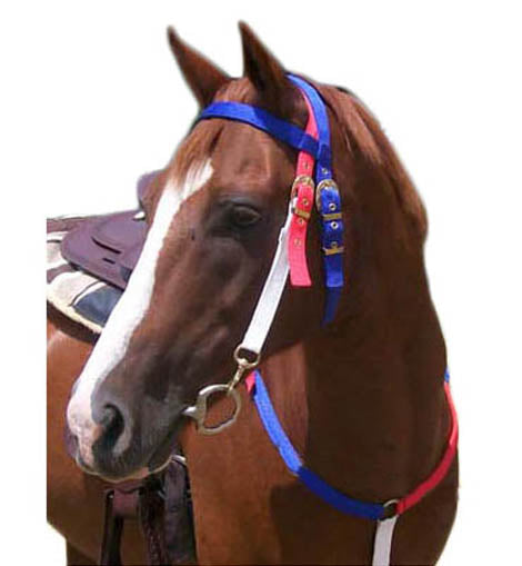 Tahoe Tack Patriotic Nylon Western Headstall & Breast Collar
