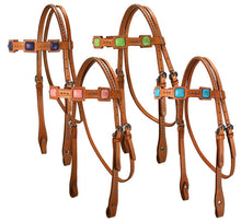 Tahoe Saquaro Ostrich Print Square Headstall
