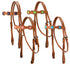 Tahoe Tack USA Leather Saquaro Ostrich Print Square Western Browband Headstall