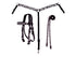 Tahoe Zebra Print Headstall, Reins, and Breast Collar Set
