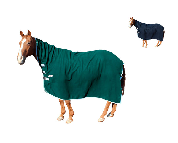 Derby Originals Fleece Cooler for Horses All Season Sheet & Blanket Liner with Neck Cover