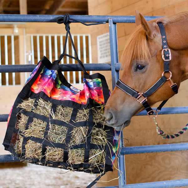 Derby Originals Scratchless Slow Feed Horse Hay Bag with Super Tough Bottom and Six Month Warranty
