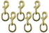 "Derby Originals Premium 4"" Brass Round Eye Bolt Snaps - Ideal for Use in the Barn, Pasture, Home, or Garage"