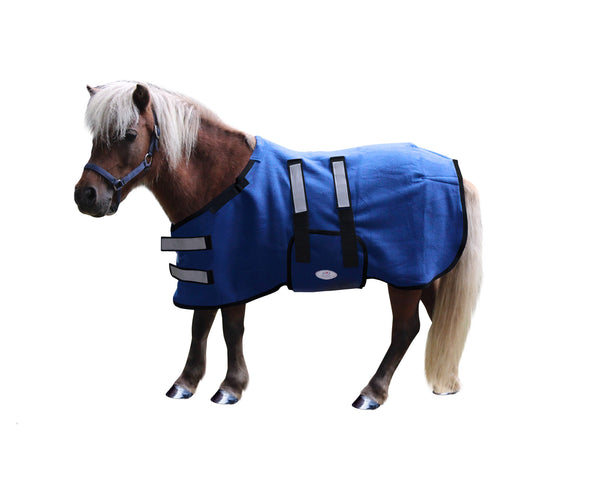 Derby Originals No Hardware Polar Fleece All Season Foal Mini Horse Sheet Safety Reflective Design