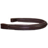 Opulent Series USA Leather Padded Raised English Browband Black