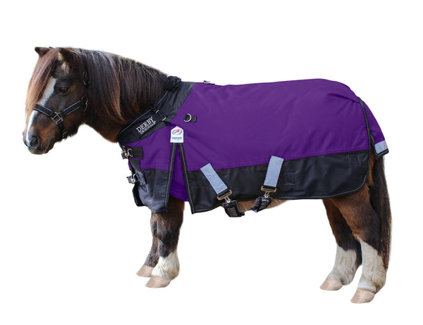 Derby Nordic-Tough 600D Ripstop Waterproof Reflective Winter Mediumweight Mini Horse & Pony Turnout Blanket with 200g Insulation and One Year Warranty