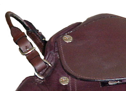 Paris Tack Rolled Leather Grab Strap with Buckles for English Saddles