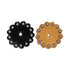 Leather Rosettes with Spots 1.75 inch Lot of 6