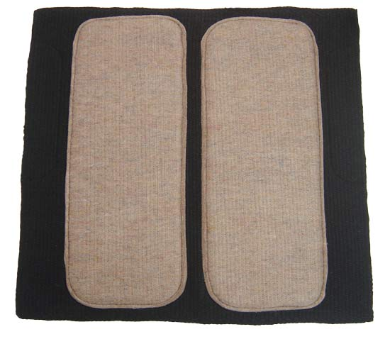 Cowhide New Zealand Wool Saddle Pad with Neoprene & Felt Lining