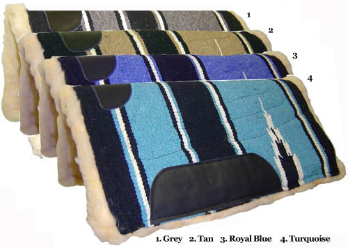 "Navajo Western Saddle Pony Pad with Fleece Lining - 22"" X 22"""