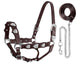 Tahoe Silverado Series Silver Heart Show Halter with Lead