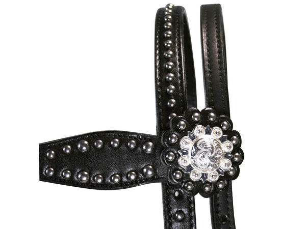 Tahoe Tack Starry Night Show Studded Western Browband Headstall with Matching Reins