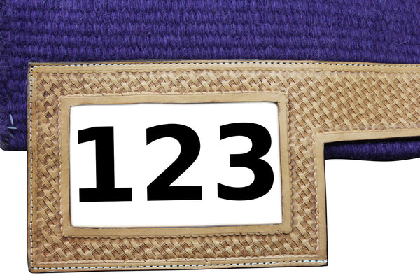 Tahoe Tack Heavy-Duty New Zealand Wool Showring Saddle Blanket / Pad with Leather Wears and Number Slot 36