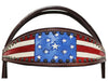 Tahoe Patriotic American Flag Browband Headstall with Reins