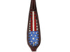 Tahoe Tack Patriotic Hand Painted American Flag Western Browband Headstall with Matching Reins