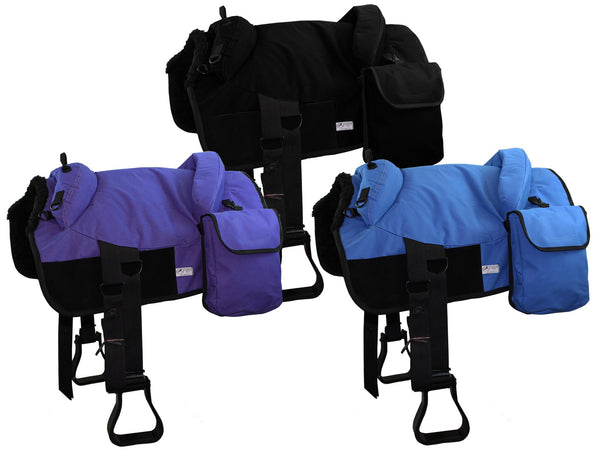 Tahoe Tack Treeless Close Contact Bareback Pad with Removable Saddlebags