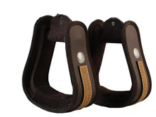 Basket Weave Overlay Stirrups for Western Synthetic Saddles