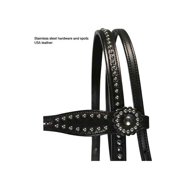 Tahoe Black Diamond Crystal Headstall & Breast Collar Set USA