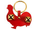 Tahoe Sleigh Bell Leather Door Hanger Chicken Rooster