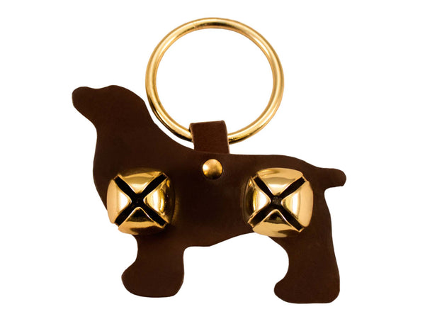 Tahoe Sleigh Bell Leather Door Hanger Bernese Mt.  Dog