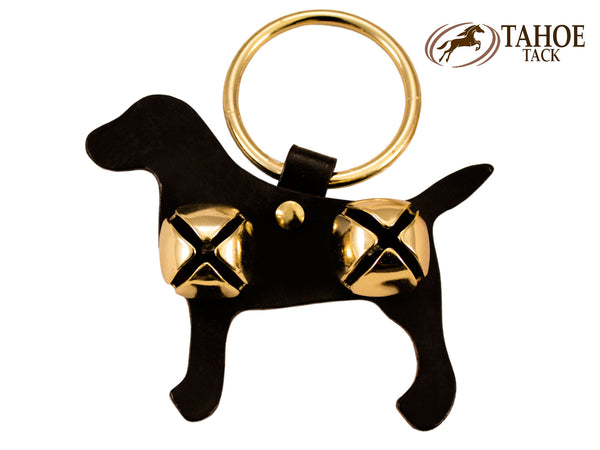 Tahoe Sleigh Bell Leather Door Hanger Labrador